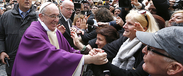 Pope Francis Greets People After Celebrating Mass At St Anne S Parish Within Vatican