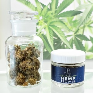 Any time hemp strain. 18-20%+ CBD, less than .3% THC