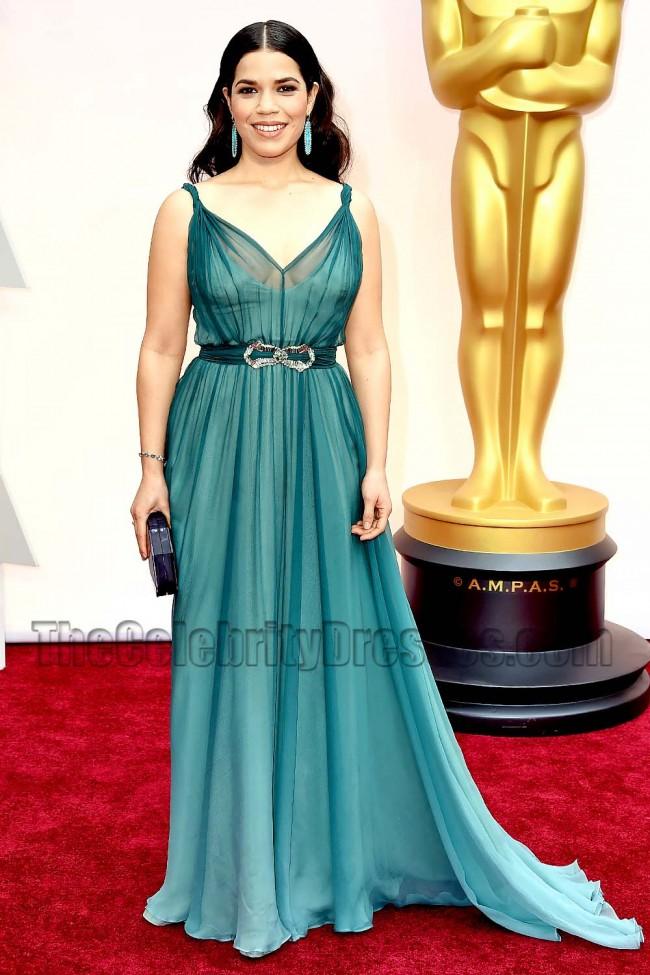 America Ferrera Red Carpet Evening Dress2015 Oscars