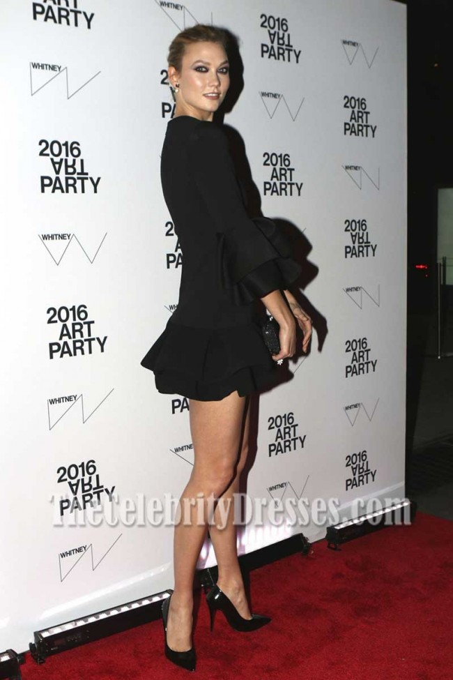 Karlie Kloss Sexy Black Little Cocktail Dress With Short