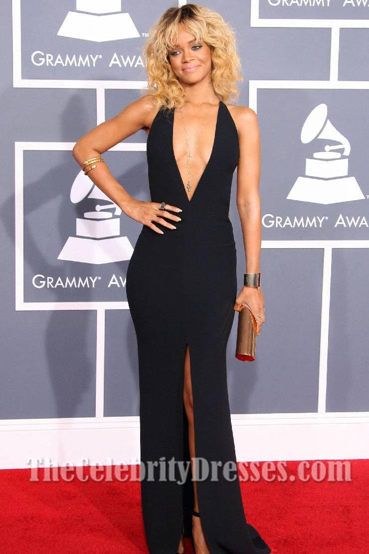 Rihanna Sexy Prom Gown Evening Dress 2012 Grammy Awards