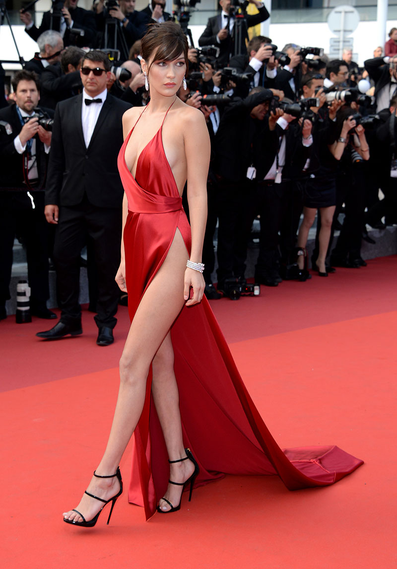 Bella Hadid Sexy Red Evening Dress Cannes 2016 Red Carpet Gown     Bella Hadid Sexy Red Evening Dress Cannes 2016 Red Carpet Gown    TheCelebrityDresses