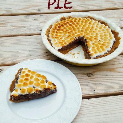 No-Bake Banana S'mores Pie