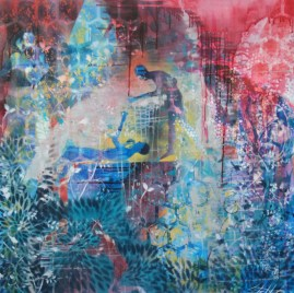 "36"" x 36"" Mixed media on canvas"