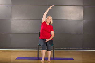 Image result for chair crescent moon pose