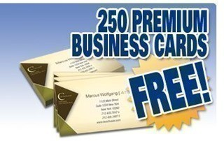 heres a great deal pick up 250 free business cards free shipping from pgprint each month they offer limited amounts if you act fast you can score - 250 Free Business Cards Free Shipping