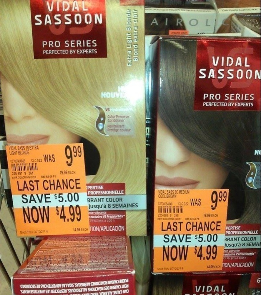 Vidal Sassoon Hair Color As Low As Free At Cvs Amp Bashas The