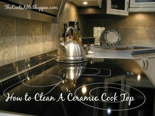 how to clean a white ceramic cooktop