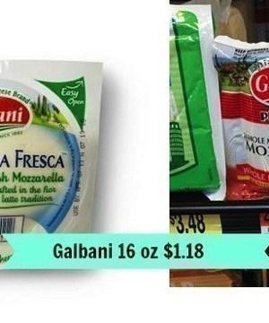 Walmart: 2 lb. Galbani Fresh Mozzarella Cheese $1.18 (Reg. $4.18)