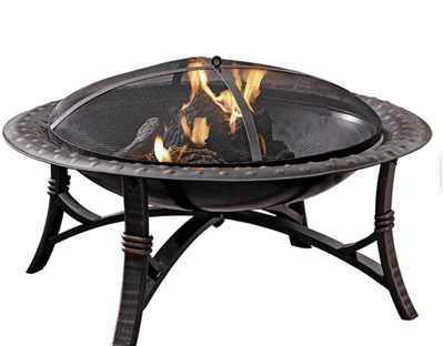 Lowe S Garden Treasures 35 In W Black Steel Wood Burning Fire Pit Just 39 Free Pick Up The