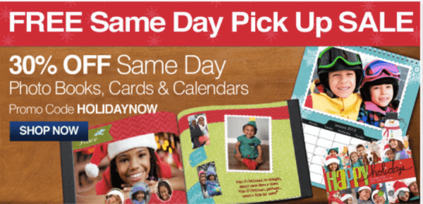 cvs 30 off same day photo books cards calendars free same day