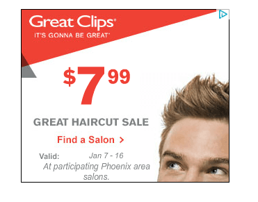 image relating to Sport Clips Printable Coupons titled Wonderful clips sale 7.99 / Coupon guide guidelines for excellent pal