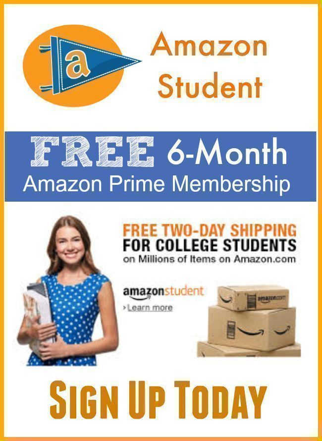 amazon prime 6 month free trial for students