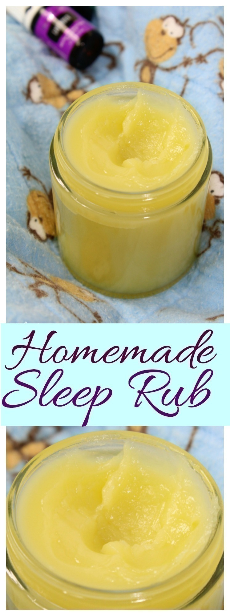 Rest easy with this simple homemade sleep rub, made with simple ingredients and essential oils that will help support a healthy rest!