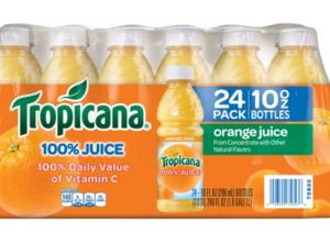 Amazon: Tropicana 100% Orange Juice 24 pk $10
