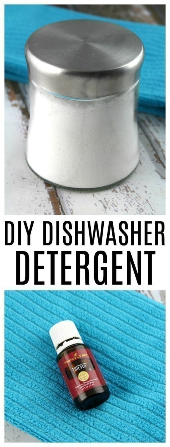 Ditch your toxic dishwasher detergent powder or tablets in favor of this DIY dishwasher powder - made with just a few simple ingredients.