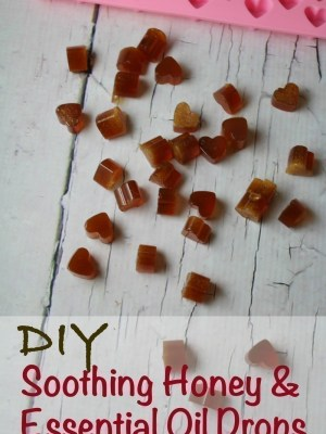 DIY Soothing Honey and Essential Oil Drops