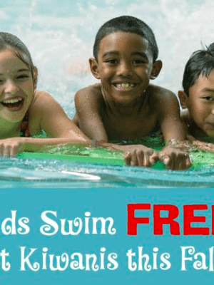 Kids Swim Free at  Kiwanis Recreation Center