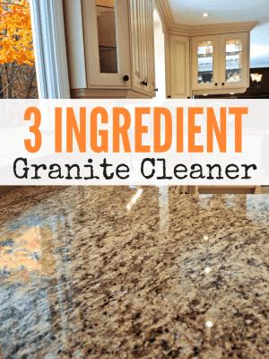 Simple DIY Granite Cleaner