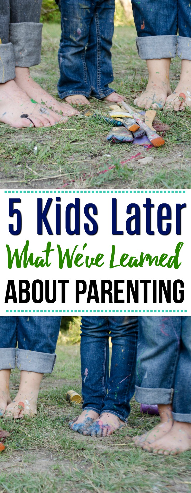 Sixteen years later, we're parents of five kids, and if anything rings true, it's that we have learned quite a bit along the way.  It didn't take us long to realize that we truly don't have it together as much as we think, or thought we do.  #parenting #kids #family