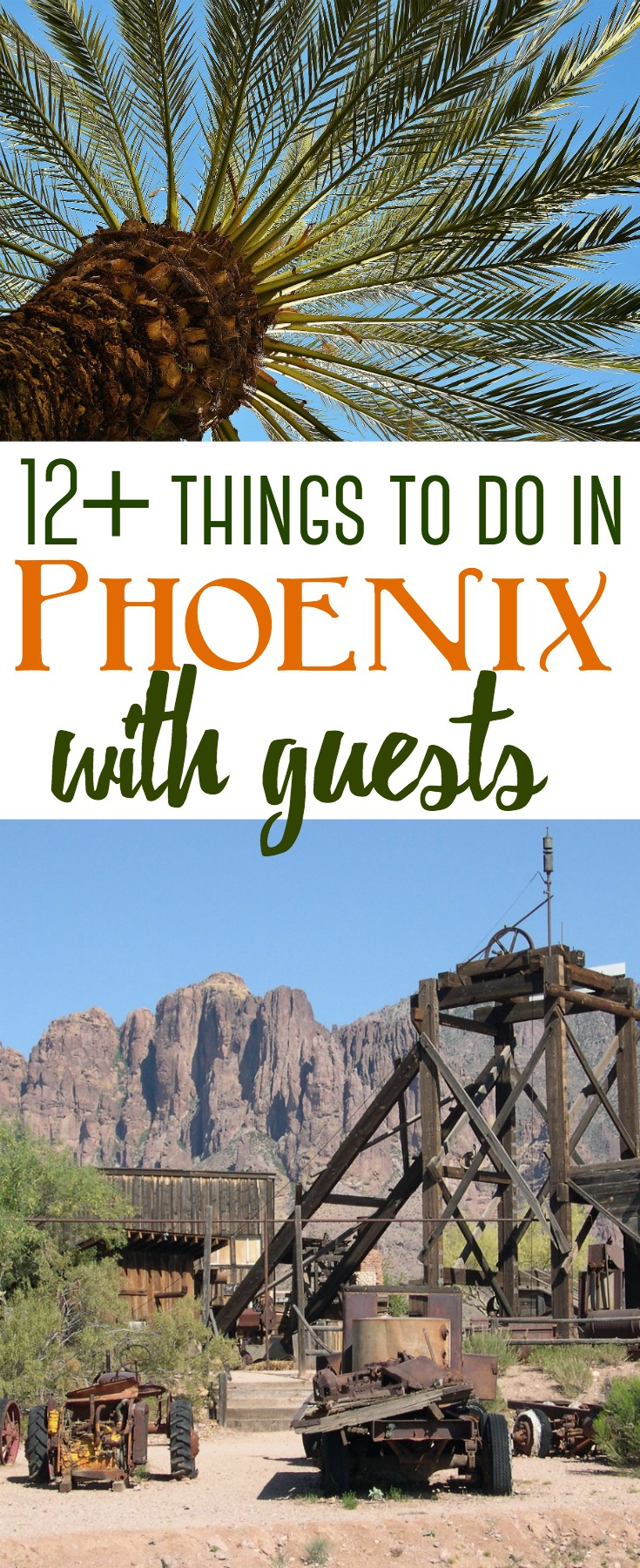 Phoenix is full of unique attractions for out of town visitors. Here are over a dozen things to do that will showcase Arizona's history to family and friends who may come to visit. #Phoenix #Southwest #Arizona #AZ #attractions #thingstodo #familyfriendly