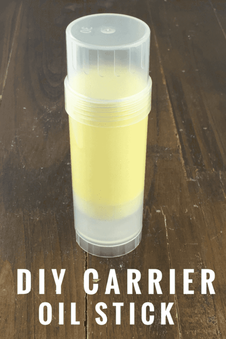 A DIY Carrier Oil Stick is an easy way to apply essential oils on the go.