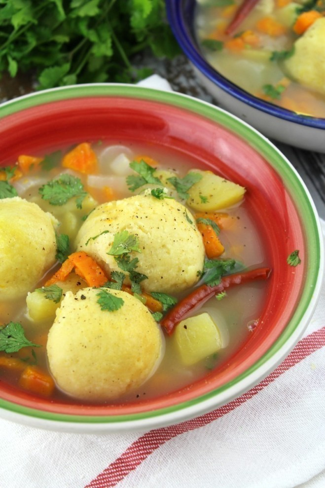 This Mexican Masa Ball Soup combines traditional masa with simple ingredients to make a corn dumpling in chicken soup loaded with fresh vegetables.