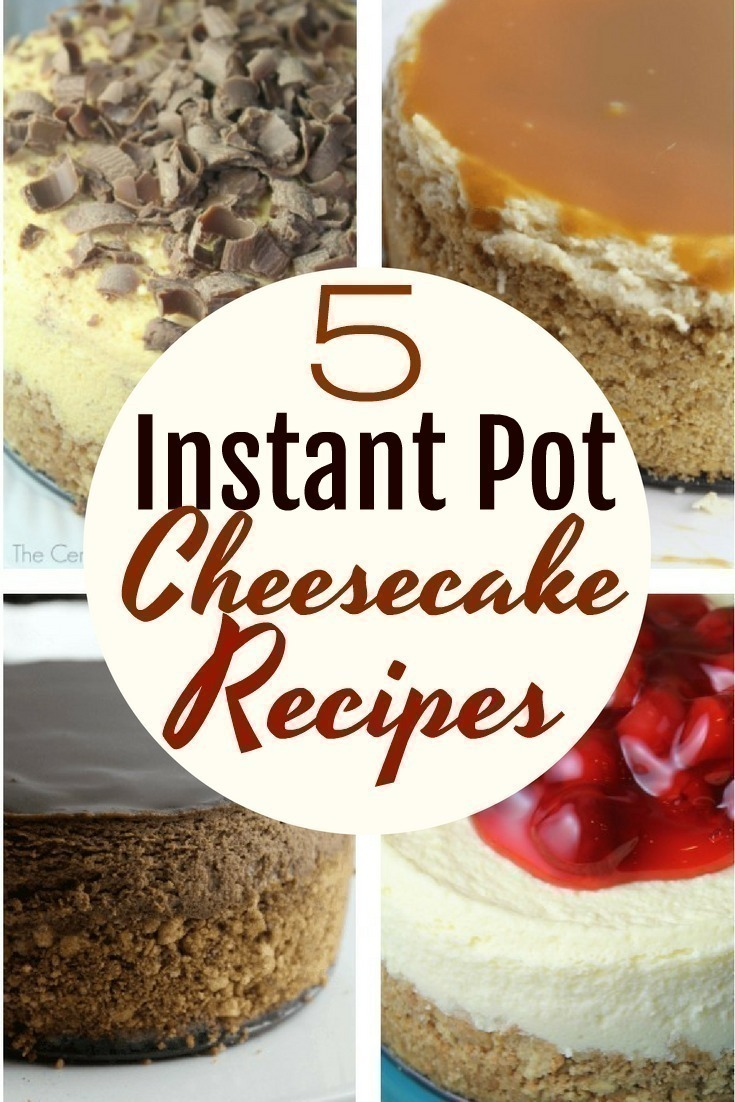 The Instant Pot is a wonderful way to make yummy cheesecake - here are 5 must-try cheesecake recipes you will want to try making in your Instant Pot!