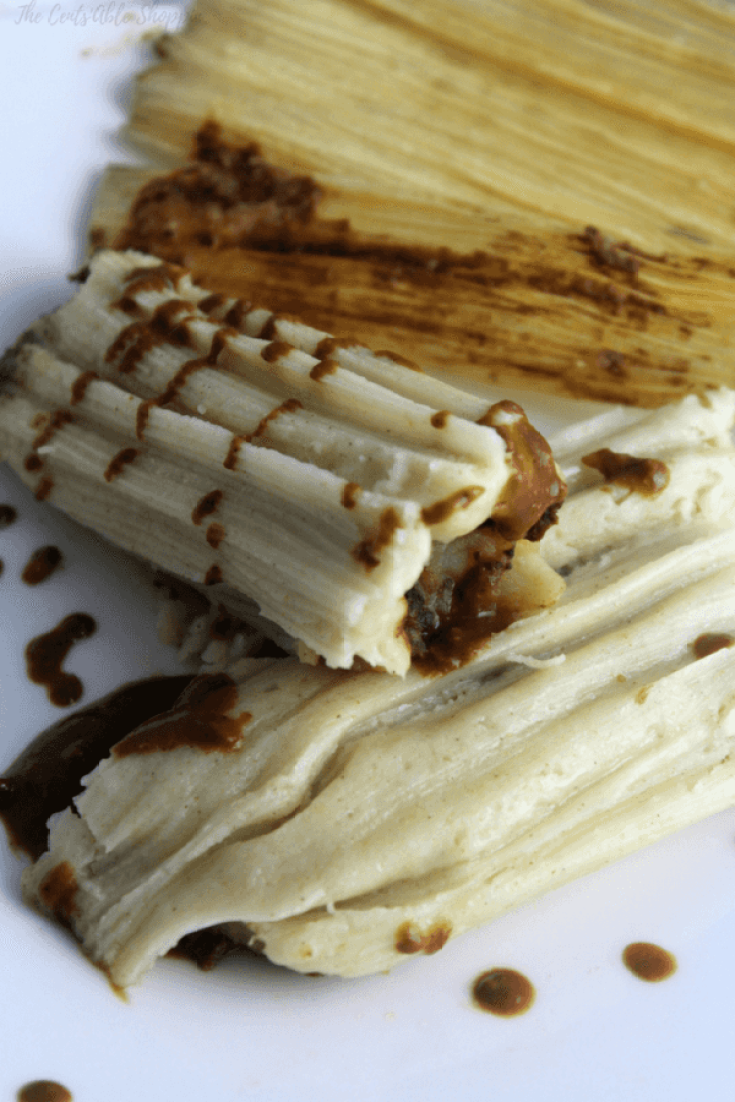 Beautifully mashed potatoes smothered in a rich, fragrant mole sauce and wrapped in a traditional Mexican Tamale that is Vegan friendly.