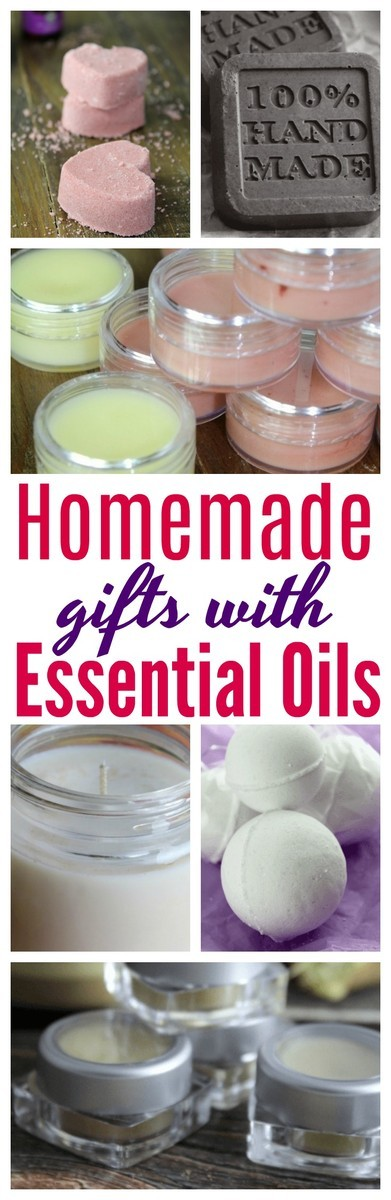 Gift giving to family and friends? Here are 10 homemade Items you can give with essential oils! #DIY | #EssentialOils | #Gifts
