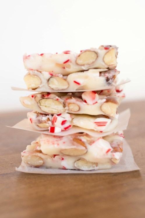 Candy Cane Almond Bark - A Night Owl