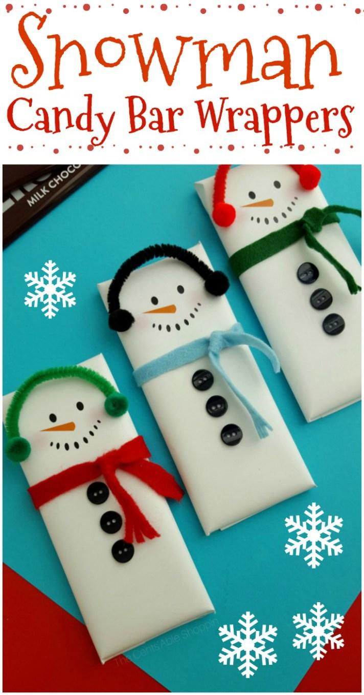 Snowman Candy Bar Wrapper Printable | The CentsAble Shoppin
