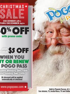 $5 OFF When you Buy or Renew a POGO Pass