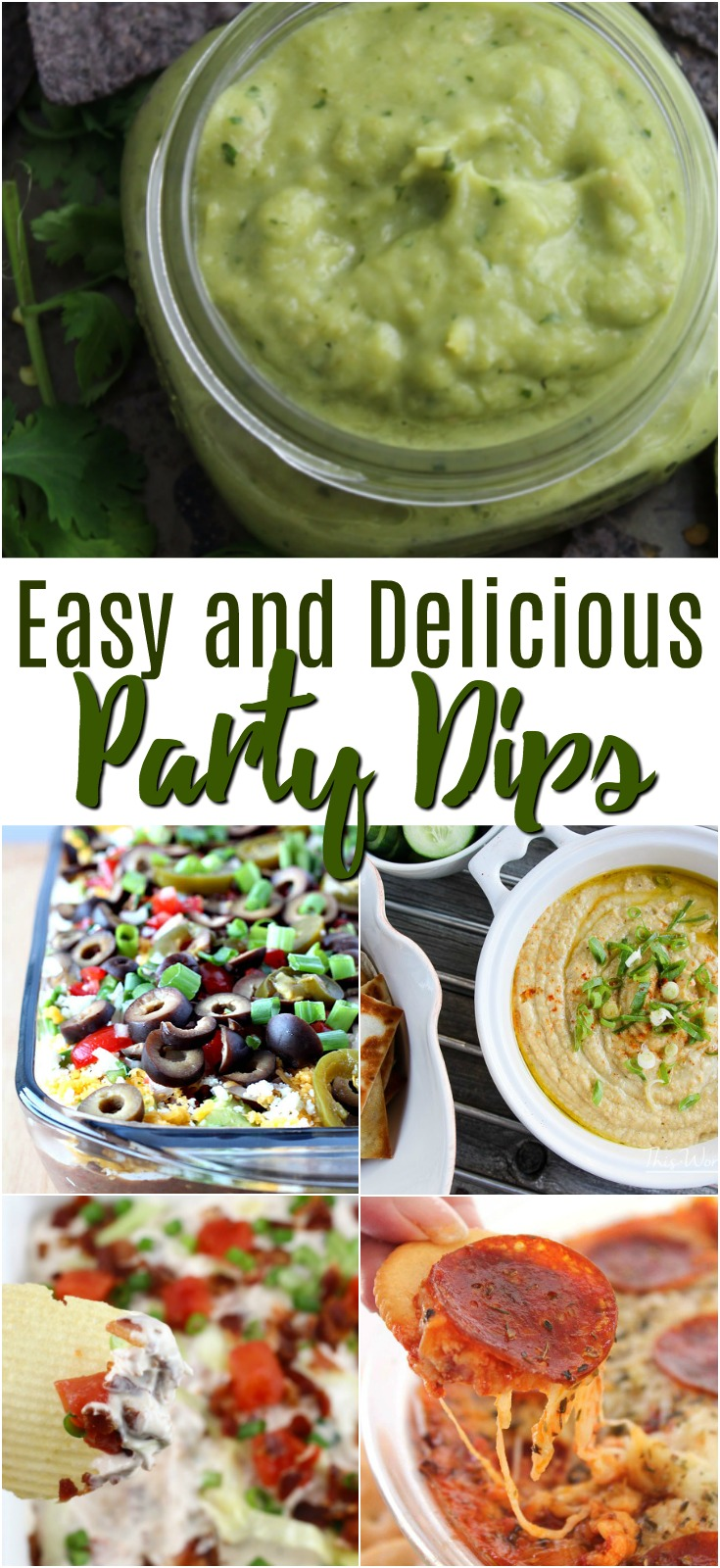 These easy party dips are perfect for your next get together!  #dip #appetizer #partydip
