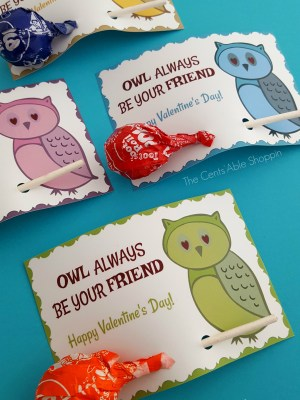 Owl Printable Valentine's Day Cards