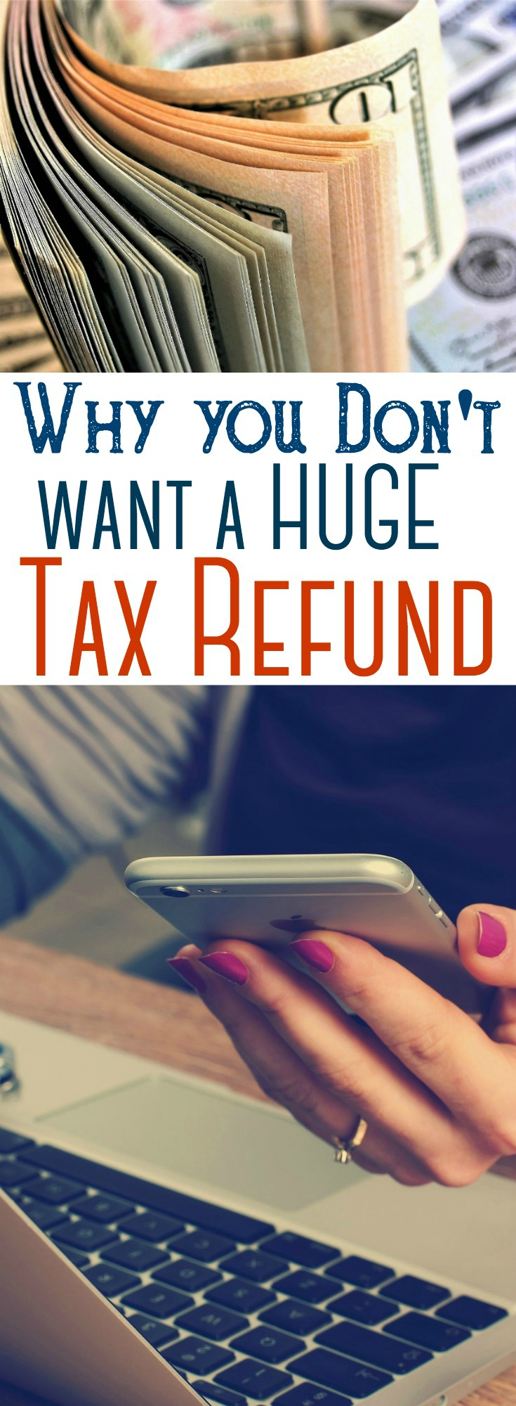 A tax refund, though it might seem like a windfall, isn't necessarily a good thing. Avoid that huge tax refund each year and make your money work harder for you. #taxes #refund #saving #finance #budget #investing #retirement