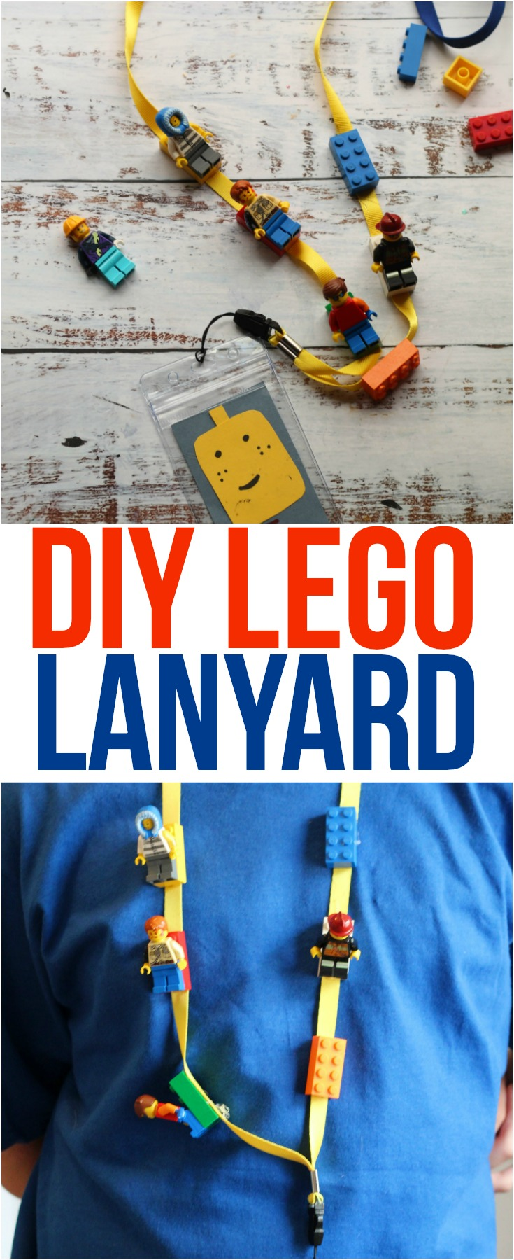Step by step directions to create a simple DIY LEGO Lanyard, perfect for trading LEGO Minifigs on your next fun trip to LEGOLAND!  #LEGO #lanyard #DIY  #LEGOLAND