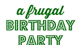 frugal birthday party plan