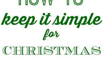 Keep it Simple at Christmas