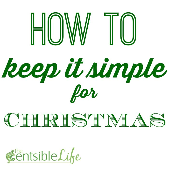 how to keep it simple at christmas