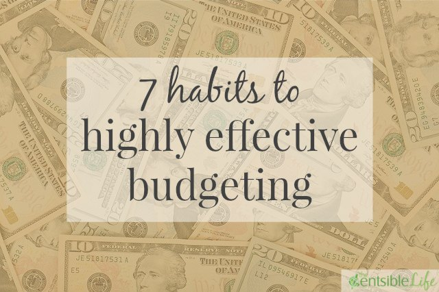 7 habits to highly effective budgeting