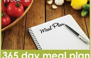 365 Day Meal Plan: Week 21 Menu
