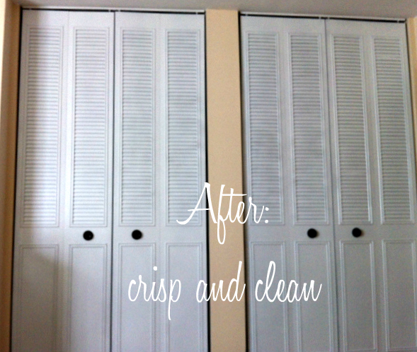 after - spray paint closet door