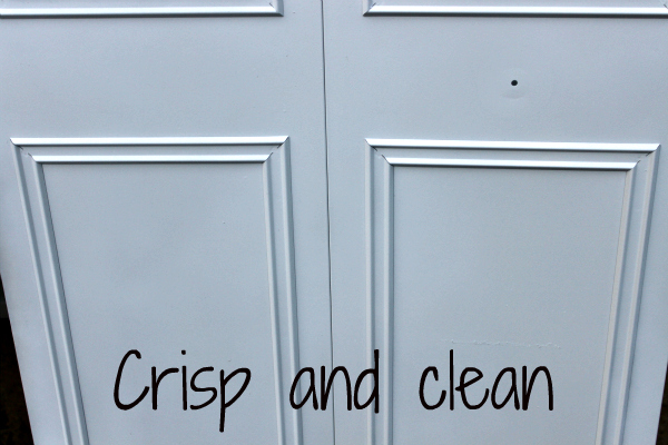 clean - spray paint closet door