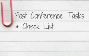 Post-Conference Action List
