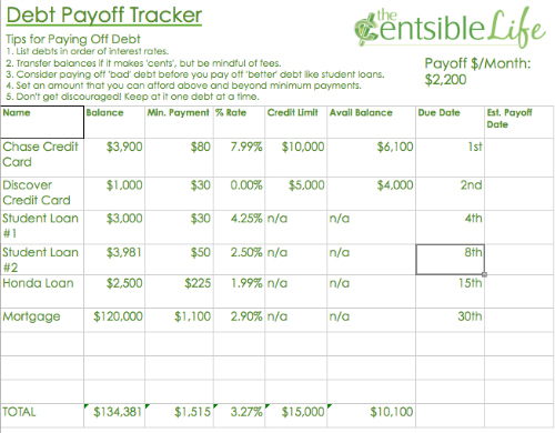 Debt Payoff Tracker