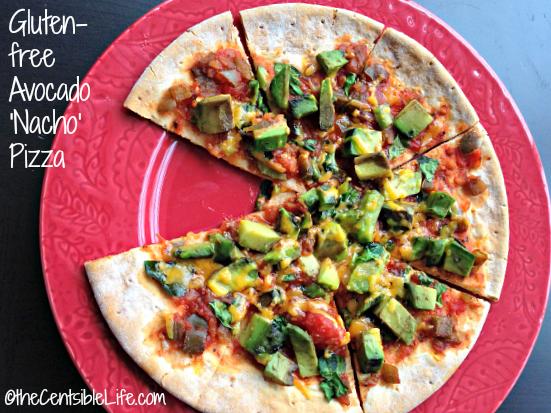 Gluten Free Avocado Nacho Pizza