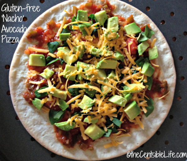 Gluten-free Nacho Avocado Pizza