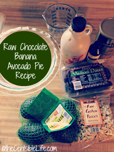 Raw Vegan Chocolate Avocado Banana Pie