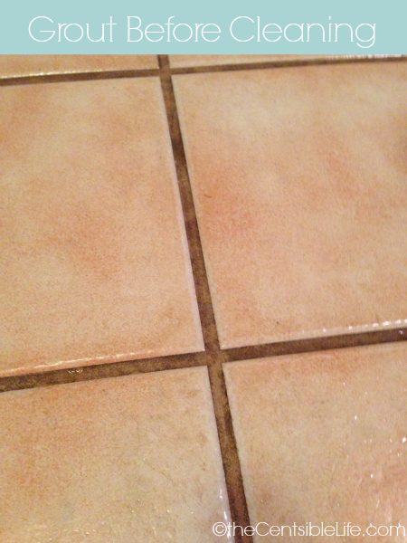 Grout before cleaning